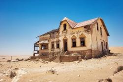 Kolmanskop Deserted Diamond Mine in Southern Namibia taken in January 2018