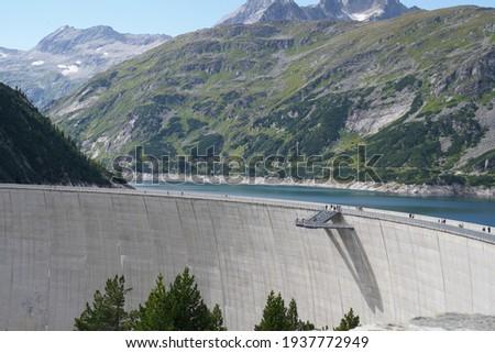 Kolnbrein dam in the austrian alps  Stock photo ©