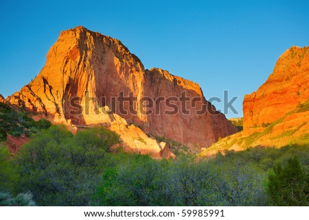 Kolob Canyons in northwestern part of Zion National Park