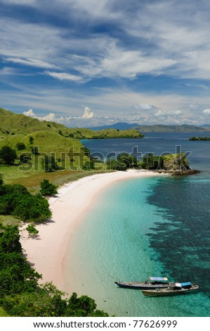 Komodo National Park - paradise islands for diving and exploring. The most populat tourist destination in Indonesia, Nusa tenggara.