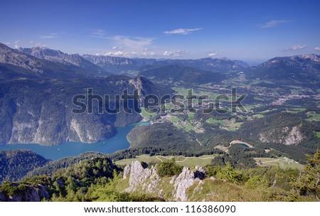 Konigssee lake in Bavarian Alps, Germany