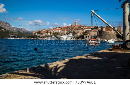 korcula city in croatia