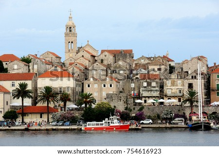 korcula is a historic fortified ...