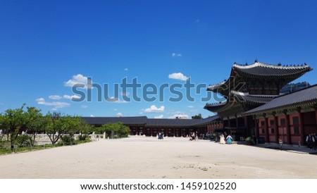 korea old historic landmark, kyeongbokgung, landmark #1459102520
