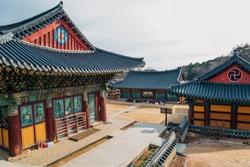 Korea old traditional architecture in Donghwasa temple, Daegu, Korea