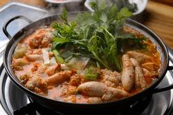 Korea traditional hotpot food seafood