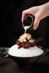 Korea traditional iced dessert fruit