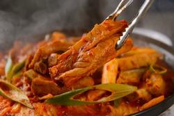 Korea traditional pork rib food