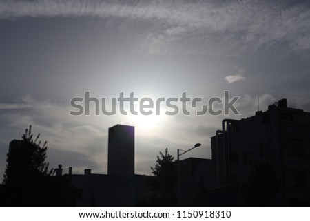 korea twilight city and street #1150918310