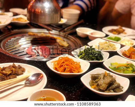 Korean Food Background :  Korean Pork BBQ