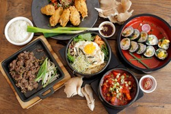 korean food, bibimpap, bulgogi, kimpap, tteok boggi