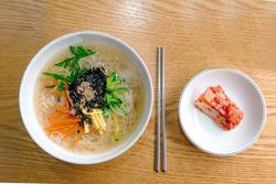Korean food feast noodles, banquet noodles