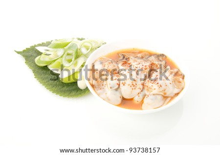 Korean food : Jeotgal jeot made with oyster