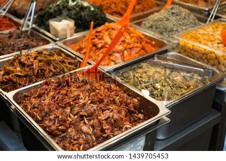 Korean food Korean traditional market