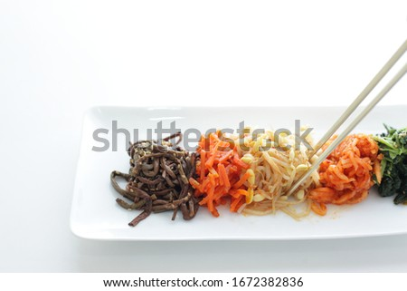 Korean food, marinated vegetable for healthy side dish Stock photo ©