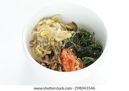 Korean food, namul seasoned vegetable for homemade side dish image