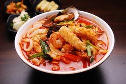 Korean Food - Spicy seafood noodle