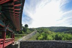 Korean historic site No.386, Janggieupseong of Goryeo Dynasty, located in the Janggi-myeon, Pohang, Gyeongsangbuk-do, South Korea. It was filmed on June 13, 2019.