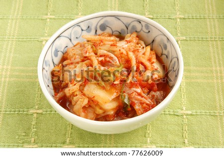 Korean Kimchi  in a  bowl