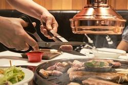 Korean pork BBQ style in Korean restaurant