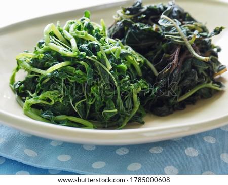 Korean side dishes Spinach seasoned and SeasonedPigweed Stock photo ©