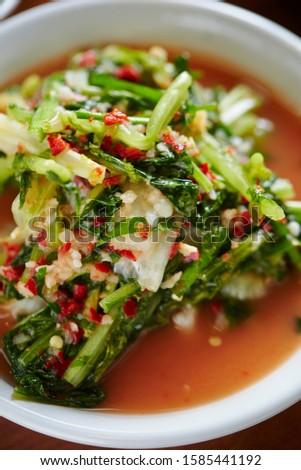 Korean spicy leaf vegetable pickle