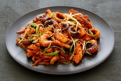 Korean Style Spicy Squid with Pork