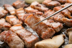 Korean Traditional Barbecue Pork Beef
