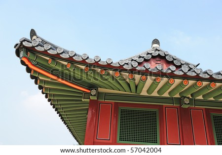 korean traditional building roof
