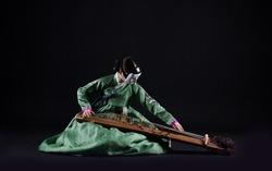 Korean traditional culture,Performance, Hanbok, Instrument, Gayageum, Janggu