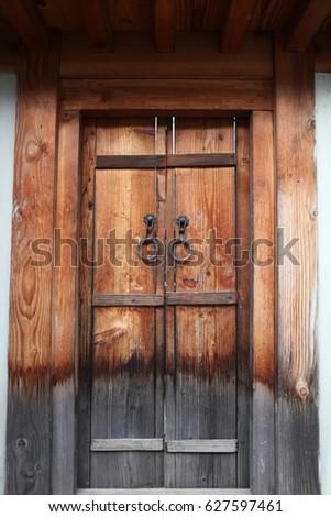 korean traditional door #627597461