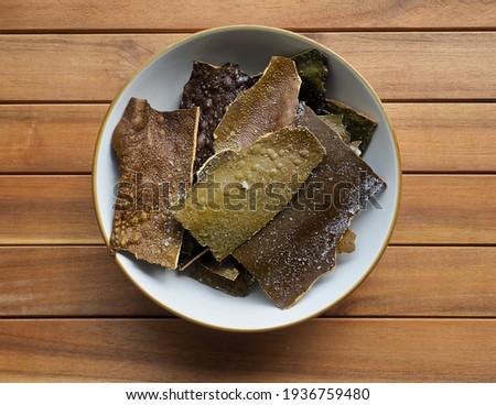 Korean traditional food, Deep-fried kelp Stock photo ©
