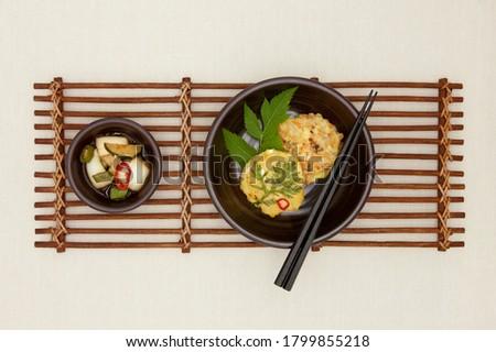Korean traditional food, korean pancake (Nokdujeon). Stock photo ©