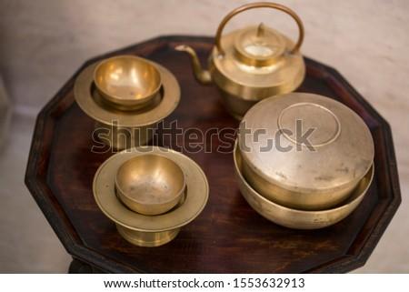 Korean traditional high quality brassware. Stock photo ©