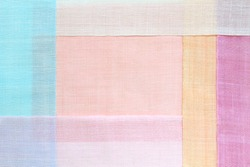 Korean traditional patchwork background of ramie fabric. Pastel tone.
