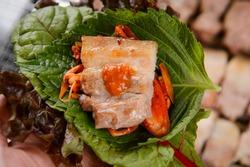 Korean traditional Pork BBQ Food