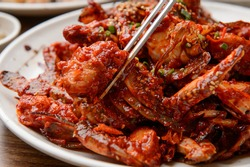 Korean traditional seafood stew crab