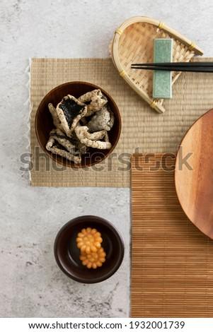 Korean traditional sweets, Hangwa (Yakgwa) and Laver Chips (Gimbugak) Photo stock ©