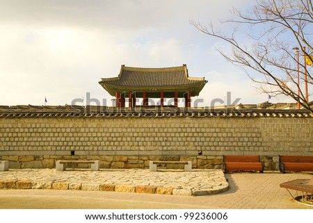korean traditional wall