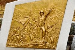Korean war memorial plate Paju, South Korea.