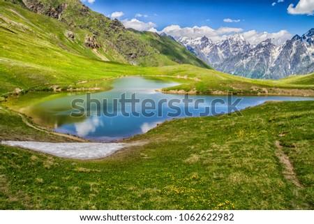 Koruldi lakes in Caucasus mountains, Georgia