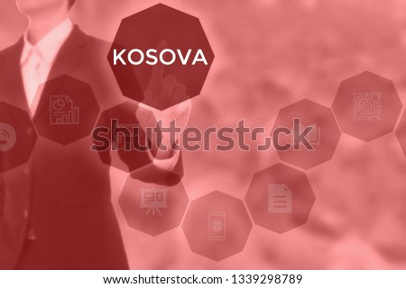 KOSOVA - technology and business concept