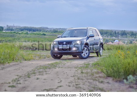 KOSTANAY Summer 2015: Street photoshoot car Suzuki Grand Vitara #369140906