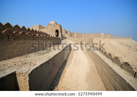 kot diji fort is one of the famous place to visit in Pakistan , formally known as Fort Ahmadabad  located in the town of Kot Diji in Khairpur District, Pakistan Zdjęcia stock ©