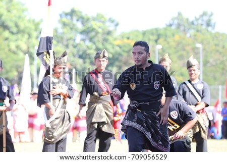 Kota Bharu,Kelantan - 31 August 2017 :Silat performance in conjunction with the 60th Independence Day Celebration of Kelanta State. #709056529