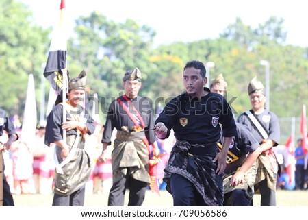 Kota Bharu,Kelantan - 31 August 2017 :Silat performance in conjunction with the 60th Independence Day Celebration of Kelanta State. #709056586