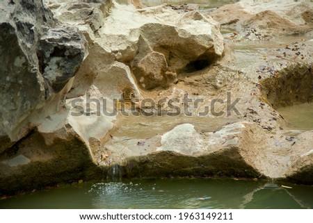 Kotli, Istria, Croatia, Mirna river flows, forming waterfalls and hollowing cauldron-like forms in stone Zdjęcia stock ©