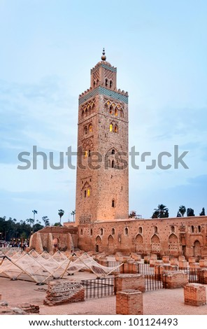 Koutoubia Mosque in Marrakesh.