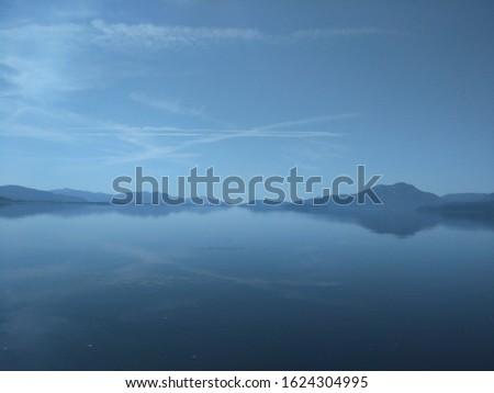 Koycegiz Lake Bright Day View no wind Stok fotoğraf ©