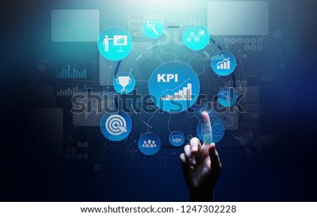 KPI - Key performance indicator. Business and industrial analysis. Internet and technology concept on virtual screen.